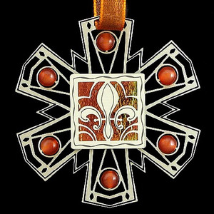 Personalized Fleur de Lis Christmas Ornament