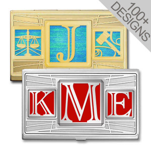 Monogram Business Card Holders