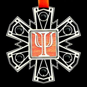 Greek Psi Symbol Ornament
