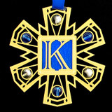 Monogram Letter K Ornament