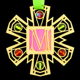 Monogram Letter M Ornament