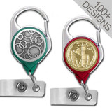 Colorful Carabiner ID Badge Holders