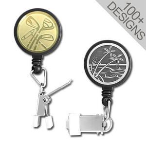 Custom Clamp-Ended ID Badge Holders