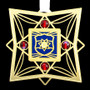 Gold, Red & Blue Police Ornament