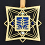 Gold & Blue Rowing Ornament for Crew Team