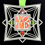 Vote Christmas Tree Ornament