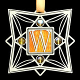 Monogram Letter W Ornament