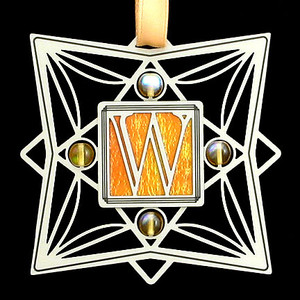 Monogram Letter W Ornament