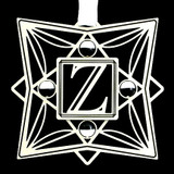 Monogram Letter Z Ornament