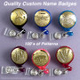 Gold Retractable Badge Holders - Choose Colors