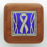 Awareness Ribbon Wooden Engagement Ring Box