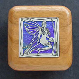 Fairy Small Wooden Engagement Ring Box