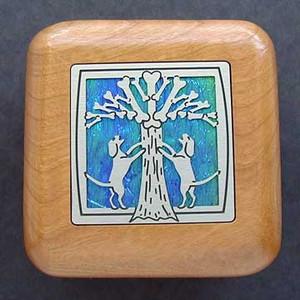 Dogs & Bone Tree Small Wooden Box