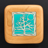 Tree of Life Wooden Engagement Ring Box