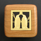 Penguin Wooden Engagement Ring Box