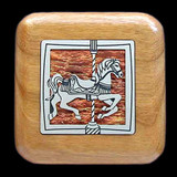Carousel Horse Small Wood Box for Rings