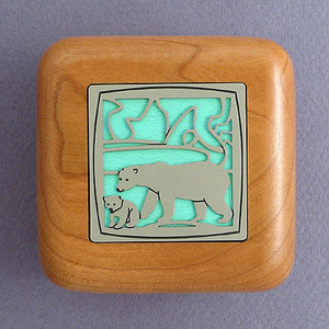Polar Bear Wooden Engagement Ring Boxes