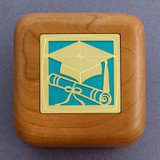 Graduation Ring Box in Wood