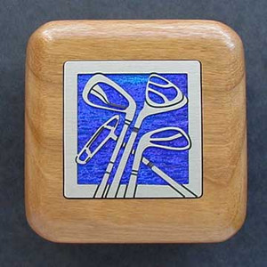 Golf Small Wooden School Ring Box