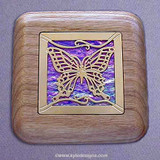Butterfly Wooden Engagement Ring Box