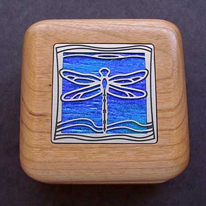 Dragonfly Wooden Engagement Ring Box