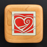 Heart Wooden Engagement Ring Boxes