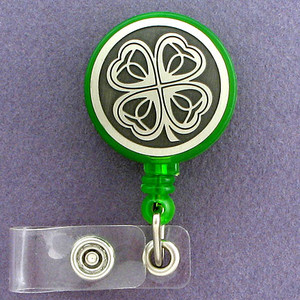 Four Leaf Clover ID Badge Holders