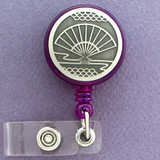 Asian Hand Fan ID Badge Holders