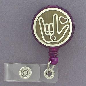 I Love You Badge Holders