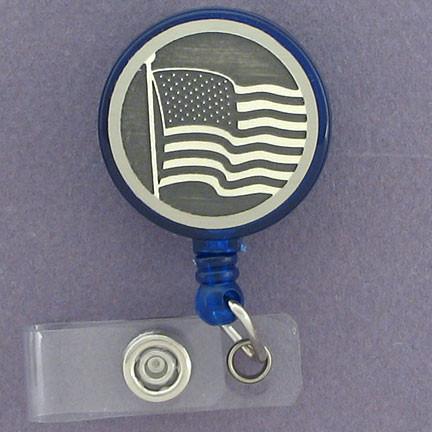 American flag Badge reel