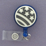 Stylized Flag ID Badge Holders