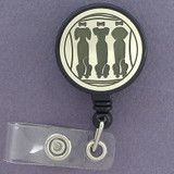 Three Dogs Retractable I.D. Card Badge Holders