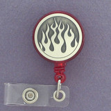Flame ID badge holder reels are customized just for you.