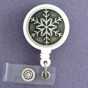 Snowflake ID Badge Holders