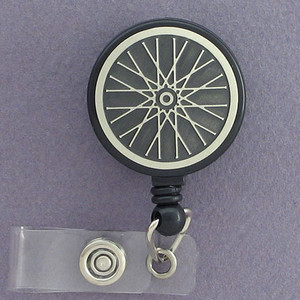 Cool Bike Wheel Retractable Name Badge Holder