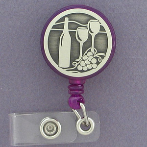 Cool Wine Drinker Retractable Name Badge Holders