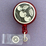 Cherry ID Badge Holder