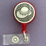 Fashionable Hat Retractable ID Badge Holder Reels