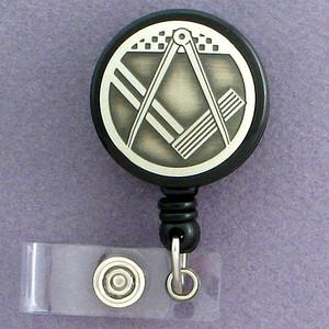 Masonic Square & Compass Retractable ID Badge Holders