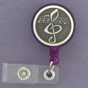 Clef Note Musician Name I.D. Badge Holders