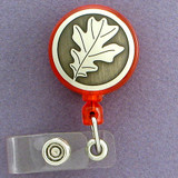 Oak Leaf Retractable I.D. Card Badge Holders