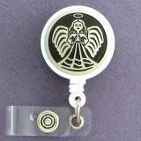 Praying Angel Retractable Badge Holder Reel