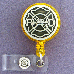 Fireman Retractable Name I.D. Badge Holders