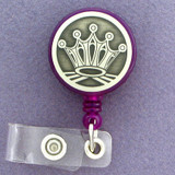 Royal Crown Retractable I.D. Name Badge Reels