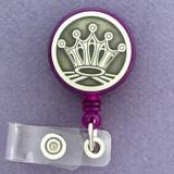 Royal Crown Retractable I.D. Name Badge Reels