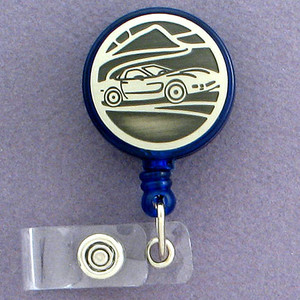 Daring Dragster Sports Car ID Badge Holders