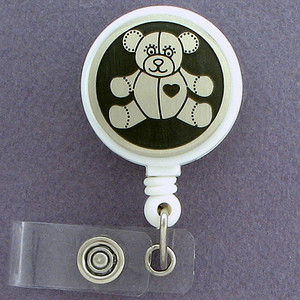 Teddy Bear Retractable ID Badge Reels