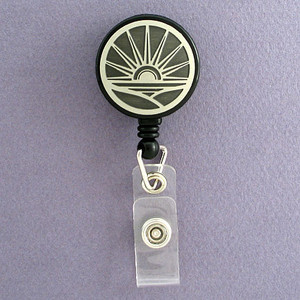 Sunrise Retractable I.D. Name Badge Holders