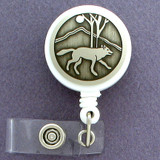 Wolf Name Badge Holder