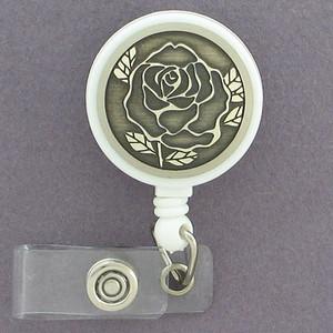 Rose Flower ID Badge Holders